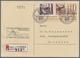 Beleg 1946, 10 Rp. Aus Postkutschenblock In MiF Mit 10 Rp. CH-Dienstmarke Auf 10 Rp. Ziffer CH-R-Antwortkarte Von Schell - Unclassified