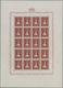 ** Liechtenstein: 1933/35: Fürstenpaar Mit Landeswappen, 2 Fr. Bis 5 Fr., Postfrischer Bogen-Satz, 3 Fr - Covers & Documents