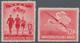 """(*) Deutsches Reich - 3. Reich: 1945, 12 + 38 Pfg. """"NSKK"""" Dunkelrotkarmin Und 12 + 38 Pfg. """"NSFK"""" Mittel - Nuovi"""