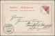 "Deutsch-Südwestafrika: 1900, 10 Pfg. Lebhaftlilarot, Diagonal Halbiert Auf Litho-AK ""Gruss Aus Deuts - Colonia: Africa Sud Occidentale"