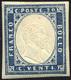 970 1861 - 20 Cent. Azzurro Oltremare (15Dc), Gomma Originale, Perfetto. Cert. Raybaudi.... - Sardaigne
