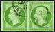 35 N°12 5c Vert-jaune Paire TB Qualité:OBL Cote: 225 - Francia