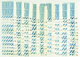 2195 N°362 50c Semeuse Lignée 100 Coins Datés Qualité:** Cote: 2010 - Dated Corners