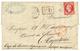105 1864 80c(n°24) Obl. PC Du GC 740 + T.15 CASTELFRANC Sur Lettre Pour CAPETOWN. Destination Rare Pour Le CAP DE BONNE  - 1863-1870 Napoléon III. Laure