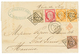 142 1875 CERES 10c + 30c+ 40c(x2) + 80c Sur Lettre De MARSEILLE Pour L' ILE MAURICE. Superbe Tricolore. - 1871-1875 Cérès
