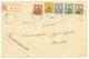 448 TOGO OCCUPATION FRANCO-ANGLAISE : 1914 N°23a(type IV) + N°24a (type II) + N°25+ N°26+ N°27 Obl. ANECHO Sur Enveloppe - Togo (1914-1960)