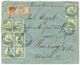 """586 """"SYFANG"""" : 1905 KIAUTSCHOU 5pf(x6) Canc. TSINGTAU + REGISTERED Label """"SYFANG"""" On Envelope To HAMBURG. Scarce. Vf. - Colony: Kiauchau"""