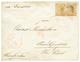 750 STRAITS SETTLEMENTS : 1884 4c(x2) + SINGAPORE PAID On Envelope To SWITZERLAND. Vf. - Straits Settlements