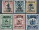 05209 Labuan: 1899, Pictorial And Coat Of Arms Definitives Surcharged '4 CENTS' Complete Set Of 12 Incl. T - Great Britain (former Colonies & Protectorates)