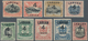 05210 Labuan: 1899, Pictorial And Coat Of Arms Definitives Surcharged '4 CENTS' Complete Set Of Nine Mint - Great Britain (former Colonies & Protectorates)