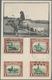 "07576 Nordborneo: 1944/47, Maximum Card Showing 1 C. With Four Types Of Overprint: BMA, BMA + ""Victoria... - Borneo Del Nord (...-1963)"