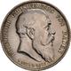 Baden: Friedrich I. 1852-1907: 5 Mark 1907 G, Auf Den Tod Mit Lebensdaten, Jaeger 37, Auflage 60 Tsd - Taler Et Doppeltaler