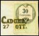F CADORE (SD Ig)punti 6 Su Fiscale Tipografico Da C.30 (4). - Lombardo-Veneto