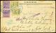 L Cartolina Commerciale Spedita Da Siracusa A New York Il 23.5.1944 Affrancata Con Due C.25 E Due C.50 (n.2,4). Bollo Di - Occ. Anglo-américaine: Sicile