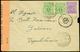 L Da Favara (Agrigento) A Garian (Tripolitania) Lettera Spedita Il 20.3.1944 Affrancata Col C.50 E Coppia 1 Lira Dell'Oc - Anglo-american Occ.: Sicily