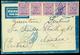 L Da Floridia (SR) Per Asmara (Eritrea), Lettera Spedita In Data 19.6.44 Con Annullo Azzurro SIRACUSA Espressi E Bollo D - Britisch-am. Bes.: Sizilien