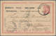 """09936 Thailand: 1890, Reply Part Of Germany 10 Pfg. Postal Stationery Card Sent Back To Cöln, Oblit. """"BANG - Thailand"""