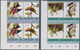 11176 Thematik: Tiere-Vögel / Animals-birds: 1985, St. Vincent. Complete BIRD Series (8 Values) In 4 Doubl - Birds