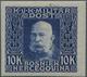 13441A Bosnien Und Herzegowina: 1912/1914, Freimarken Franz Joseph, 1 H. Bis 10 Kr. Ungezähnt, Kompletter S - Bosnia And Herzegovina