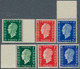 """13776 Frankreich: 1944/1945, Defintives """"Marianne"""", Not Issued, Complete Set Of Six Values, Unmounted Mint - France"""