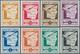 16005 San Marino: 1943, Airmail Stamps, Complete Set Without Overprint, Luxury, (Sassone N26-33), Very Rar - San Marino