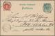 """18661 Deutsche Kolonien - Kamerun-Vorläufer: 1893, GA-Karte 5 Pf. Krone/Adler Mit K1 """"KAMERUN 28 4 93"""" Adr - Colonie: Cameroun"""