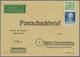 20630 Berlin - Postschnelldienst: 1952, 10 Pfg Bauten Und 5 Pfg Männer I Zusammen Auf Postscheckbrief Per - [5] Berlin