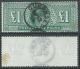 1911 GREAT BRITAIN USED SG 320 DEEP GREEN £1 CERTIFICATE DAVID BRANDON - Usati