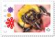 BEE HONEYBEE Abeille, Ape, Biene, Abeja, MACRO Personalized Postage Stamp MNH Canada 2018 P18-06sn02 - Honeybees