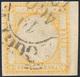 371 1861 - 20 Grana Giallo, Ampio Margine Di Foglio A Destra Non Tosato (23), Usato, Perfetto. Estremame... - Nápoles