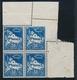 ** VARIETES N°47 - 50c Bleu - Bloc De 4 - CDF - Piquage Oblique - TB - Editores