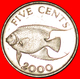 # FISH (1999-2009): BERMUDA ★ 5 CENTS 2000 MINT LUSTER! LOW START ★ NO RESERVE! - Bermudes