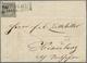 01175 Bayern - Marken Und Briefe: 1849, Schwarzer Einser 1 Kreuzer Schwarz, Platte 1 Auf Vertreter-Azeige - Bavaria