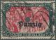 01312A Danzig: 1921: 5 Mark Mit KOPFSTEHENDEM Aufdruck DANZIG, Entwertet «DANZIG 1 K 26.5.21» Mit Obligator - Danzig