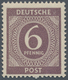 01419 Alliierte Besetzung - Gemeinschaftsausgaben: 1946, Freimarke 6 Pfg. Ziffer Schwarzviolett, Postfrisc - Zone AAS