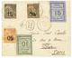 25 1892 N°4 + N°5+ N°7(pd)+ N°9 + N°10 Obl. TANANARIVE Sur Env. RECOM. Pour PARIS. RARE. TTB. - France (ex-colonies & Protectorats)