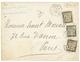 """504 """"BRESIL"""" : 1888 LIGNE J PAQ FR N°1 + CONSULAT DE FRANCE A RIO DE JANEIRO + TAXE 5c+ 15c + 30c Sur Env. Pour PARIS. R - Impuestos"""
