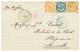 706 1870 AIGLE 10c + 20c+ 40c Obl. MQE + MARTINIQUE ST PIERRE Sur Lettre Pour La FRANCE. TB. - France (former Colonies & Protectorates)