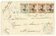 """755 """"TCHE-KAM"""" : 1908 KOUANG-TCHEOU 1c + 2c(x2)+ 5c Obl. TCHE-KAM CHINE Sur DEVANT De Lettre (front Only) Pour La FRANCE - Cina (1894-1922)"""