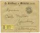 "961 ""METELINO"" : 1906 20p Block Of 4 Canc. METELINO On Reverse Of REGISTERED Envelope To GERMANY. Vf. - Oriente Austriaco"