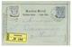 979 1890 P./Stat 1P + 1P Canc. SALONICH SALONICCO, Sent REGISTERED To HAMBURG. Vvf. - Levante-Marken