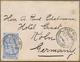 "Beleg 1894, 2x 1 Pia. A. Kl. Brief (leicht Randfleckig) Mit Selt. Stempel ""Cook's Touristservice"" Von Cairo N. Köln (Mic - Francobolli"