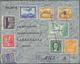 Beleg 1938, 8 Verschiedene Werte Auf R-LP-Brief  Von San Salvador Nach Schweden Wegen Beschädigung Mit Verschlußetikette - Postzegels