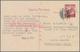 "Japan - Ganzsachen: 1940, UPU Card 10 S. Canc. ""KOBE 27.6.4(1)"" To Dutch East Indies, Civilian Inter - Postal Stationery"