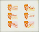 Schardscha / Sharjah: 1972, Charles De GAULLE With Different Aeroplanes Complete Sets Of Six Imperfo - Sharjah