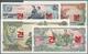 Korea: Set Of 4 Specimen Notes Containing 1, 5, 10 & 50 Won 1978 Specimen With Specimen Overprint An - Korea, Zuid