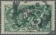 Großbritannien: 1913, Seahorses £1 Green Used With Little Smudged 'London 23 Jan 17' Pmk., Small Rep - Grande-Bretagne