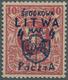 Mittellitauen: 1920, Freimarke Von Litauen Mit Aufdruck 4 M. Auf 10 Sk. In Der Seltenen Farbe KARMIN - Lithuania