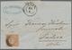 Baden - Marken Und Briefe: 1862, Wappen 9 Kreuzer Lebhaftrötlichbraun, Liniierter Hintergrund Auf Br - Baden