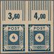 Sowjetische Zone - Ost-Sachsen: 1945, 20 Pfg. Ziffer Schwarzblau Im Waagerechten Oberrandpaar, Postf - Soviet Zone